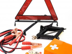Emergency kit for car - first aid kit car jack jumper cables war