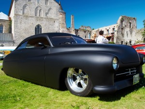 HAAPSALU, ESTONIA - JULY 18: American Beauty Car Show, showing m